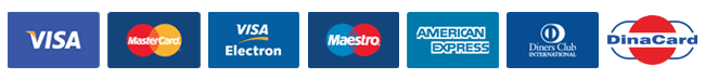 DINERS, VISA ELECTRON, VISA, MAESTRO, MASTERS, DINACARD, AMERICAN EXPRESS